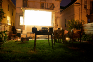 Projector Screen for movie night